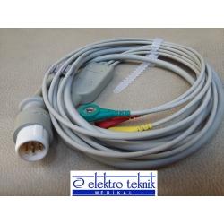 HP Defibrilatör EKG Kablosu