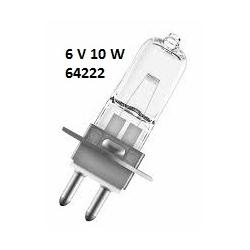 6V 10W PG22 64222 Halojen Mikroskop Ampulü